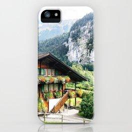 Lauterbrunnen Swiss chalet iPhone Case