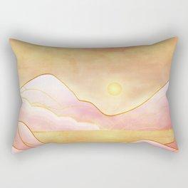 landscape in pastels Rectangular Pillow