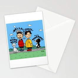 Chris and Kelley (Peanuts Homage) Stationery Cards