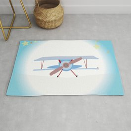 Vintage Airplane Magical Stars Made for Rachel and Adam Rug