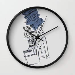 Denim N Heels Wall Clock