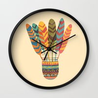 rustic Wall Clocks featuring Rustic shuttlecock by Picomodi