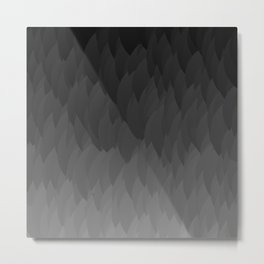 Fade to black ombre flame gradient grayscale pattern Metal Print