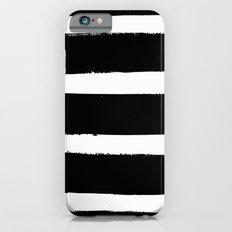 Black & White Paint Stripes by Friztin iPhone 6s Slim Case