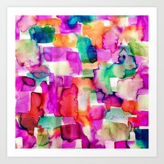 Wild Eye Pink Art Print