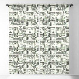 100 Dollar Motif Pattern Design Blackout Curtain