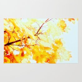 Yellow Maple leaves, Autumn Unfolds Rug