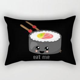 Eat Me in black Rectangular Pillow
