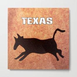 Texas Steer Metal Print