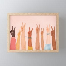 Peace Framed Mini Art Print