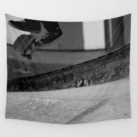 feet Wall Tapestries featuring Skatin' Feet by KoBennett24