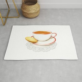 Cup of Tea and a biscuit Rug