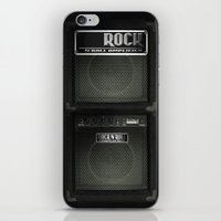 rock n roll iPhone & iPod Skins featuring Rock N´Roll amplifier by Nicklas Gustafsson