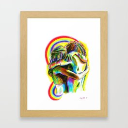 Peace and Love Framed Art Print