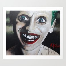 JOKER JARED LETO Art Print