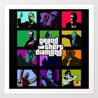 grand theft auto Art Prints featuring Grand Theft Diamond Snatchers by Ant Atomic
