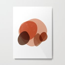 Elementary Formations 03 - Contemporary, Minimal Abstract Metal Print