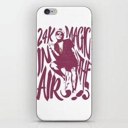 24k magic iPhone Skin