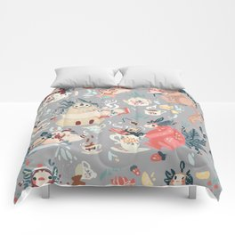 Tea Spirit pattern Comforters