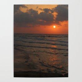 Orange Cream Sunset Poster