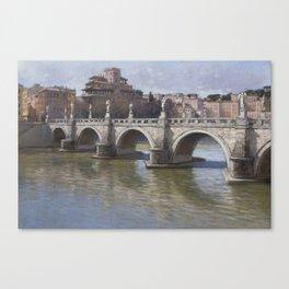 Puerto del Angelo, Rome Canvas Print