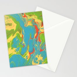Paint Pouring 7 Stationery Cards