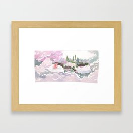 Jelly arrived in Cloud Land Framed Art Print