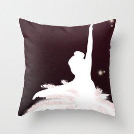 Space Ballerina (1 of 3) Throw Pillow