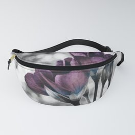 Pop of Color Flowers Muted Eggplant Teal Fanny Pack