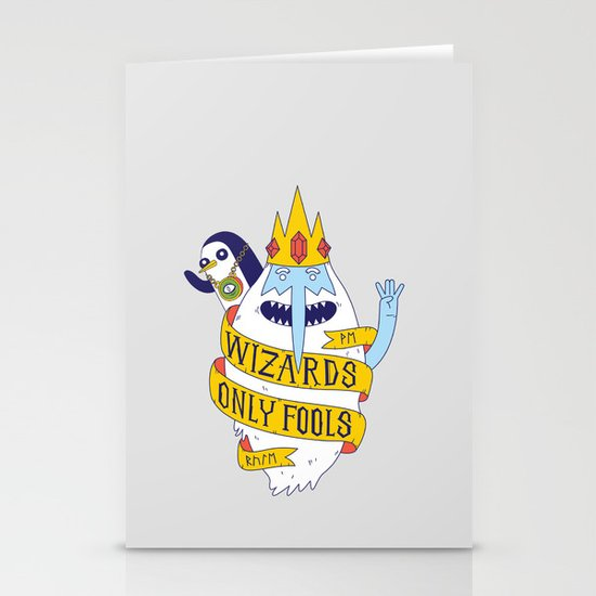 Wizards Only Fools Stationery Cards