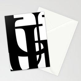 Hidden Letters. Baskerville U Stationery Cards
