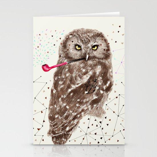 Mr.Owl III Stationery Cards