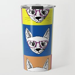 geek cool cat Travel Mug