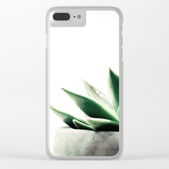 Simply Succulent Clear iPhone Case