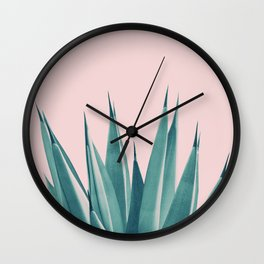 Blush Agave Dream #1 #tropical #decor #art #society6 Wall Clock