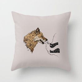 chaos reigns Throw Pillow