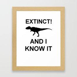 Extinct T-Rex Framed Art Print
