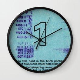 Ilium Public Library Card No. 1 Wall Clock
