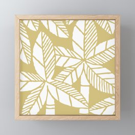 Tropical Palm Tree Composition Gold Framed Mini Art Print