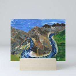 Riggins Idaho (palette knife) Mini Art Print