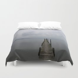 Lake Chiemsee In A Mist Duvet Cover