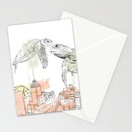 Urban Coral Stationery Cards
