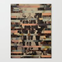 beastie boys Canvas Prints featuring The Boys by Claire Elizabeth Stringer