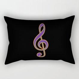 Rainbow G Clef Treble Clef Music Lover Musician Rectangular Pillow