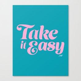 Take it Easy (Blue/Pink Palette) Canvas Print