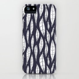 Quail Feathers (Midnight) iPhone Case