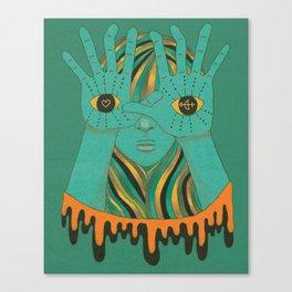eyes of gypsy  Canvas Print