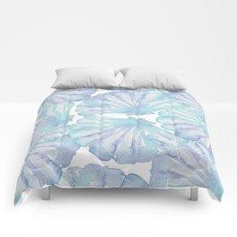 Shell Ya Later - Turquoise Seashell Pattern Comforters