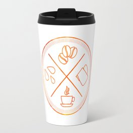 Four Elements of Cappuccino Pictogram Travel Mug