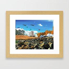 Experiment am Berg 24 Framed Art Print